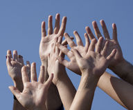 Hands of friends Royalty Free Stock Images