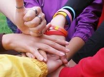 Hands of friendship Stock Photos