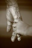 hands gammalt barn Royaltyfri Fotografi