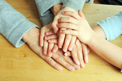 Hands of generations Royalty Free Stock Image