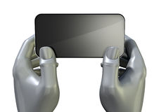 Hands Generic Smart Phone Front Royalty Free Stock Image