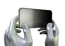 Hands Generic Smart Phone Front royalty free illustration