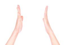 Hands gesture applauded Stock Photo