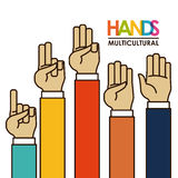 Hands gesture. Design,  illustration eps10 graphic Royalty Free Stock Image