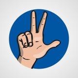 Hands gesture or finger alphabet spelling. Illustration Stock Images