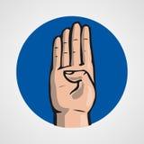 Hands gesture or finger alphabet spelling. Illustration Stock Photo