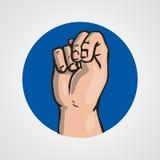 Hands gesture or finger alphabet spelling. Illustration Royalty Free Stock Image