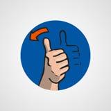 Hands gesture or finger alphabet spelling. Illustration Stock Image