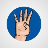 Hands gesture or finger alphabet spelling. Illustration Royalty Free Stock Photos