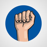 Hands gesture or finger alphabet spelling. Illustration Royalty Free Stock Images