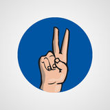Hands gesture or finger alphabet spelling. Illustration Royalty Free Stock Photography