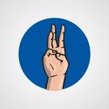 Hands gesture or finger alphabet spelling. Illustration Stock Photography