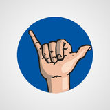Hands gesture or finger alphabet spelling. Illustration Royalty Free Stock Photo