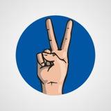Hands gesture or finger alphabet spelling. Illustration Stock Photos