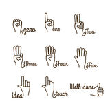 Hands gesture Royalty Free Stock Photos