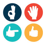 Hands gesture Stock Images