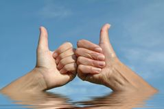 Hands gesture positive OK Stock Photo