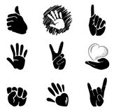 Hands and gestures Royalty Free Stock Photos