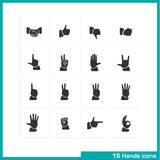 Hands gestures icon set. Stock Image