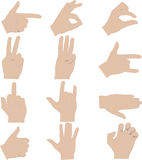 Hands gestures illustrations Stock Photo