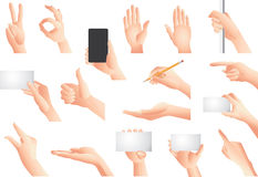 Hands and gestures  set. Hands and gestures big  set Stock Images