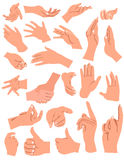 Hands gestures Royalty Free Stock Image