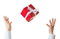 Hands and gift Stock Photos