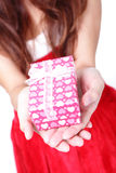 Hands and gift Royalty Free Stock Image