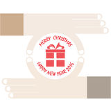 Hands and gift vector icon. Merry christmas and happy new year c Royalty Free Stock Images