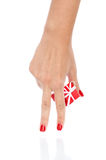 Hands with gift Stock Photos