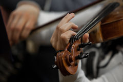 Hands girl playing the violin Stock Photography