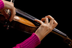 Hands girl playing the violin Royalty Free Stock Image