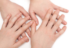 Hands of girlfriends Royalty Free Stock Image