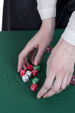 Hands girls croupier Royalty Free Stock Images