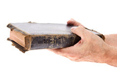 Hands giving Bible Royalty Free Stock Photography