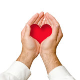 Hands giving heart Royalty Free Stock Photography