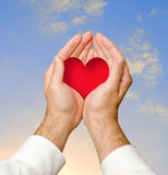 Hands giving heart Royalty Free Stock Photos