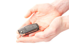 Hands giving or receiving a car key Royalty Free Stock Photography