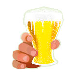 Hands with glass of beeer Stock Image