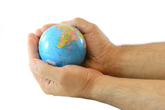 Hands with globe Royalty Free Stock Photos