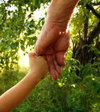 Hands grandfather and grandson Royalty Free Stock Image