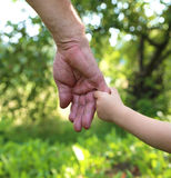 Hands grandfather and grandson Stock Photo