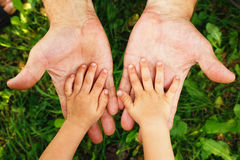 Hands grandfather and grandson Royalty Free Stock Photography