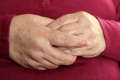 Hands grandmother. Royalty Free Stock Image