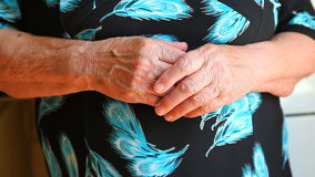 Hands of grandmother or senior woman. Hands of grandmother, senior woman stock video