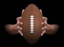 Hands Gripping Football Stock Photos