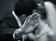 Hands of the groom Royalty Free Stock Photos