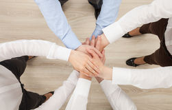 Hands group, view from above Royalty Free Stock Photography