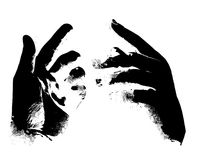 Hands, grunge style Stock Images