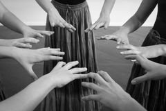 Hands of gypsy dancer in circle Royalty Free Stock Photo